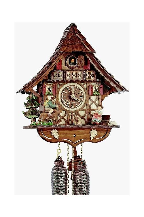 8day curved roof chalet cuckoo clock