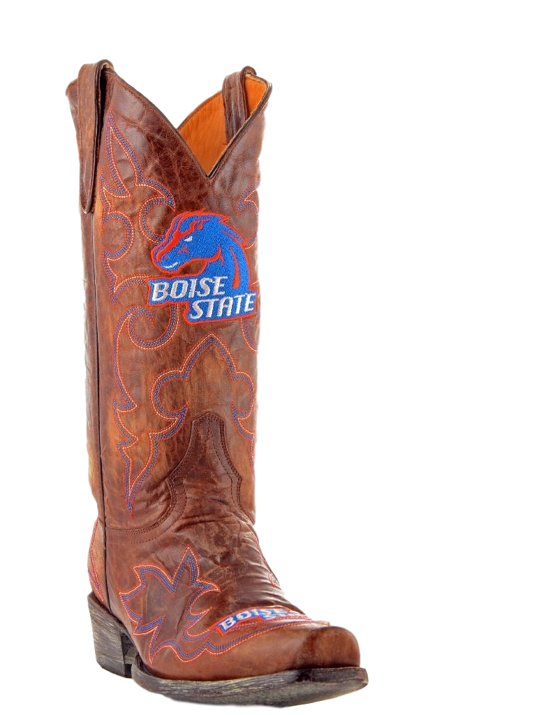Gameday Boots Mens Leather Boise State Cowboy Boots by Gameday Boots