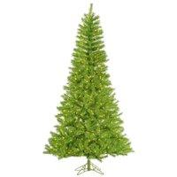 "Vickerman 33043 - 14' x 93"" Lime / Green Tinsel 3,650 Lime Miniature Lights Christmas Tree (A147896)"