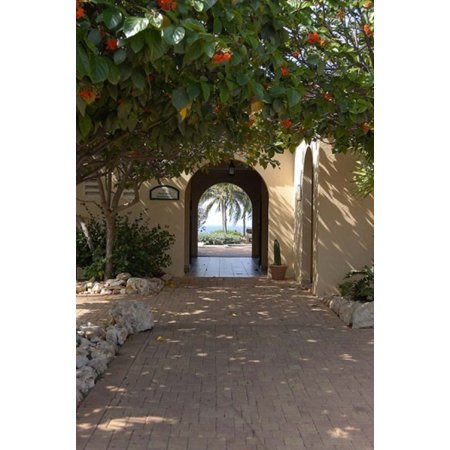 Archway to Pool at Tierra del Sol Golf Club and Spa Aruba Caribbean Poster Print by Lisa S Engelbrecht