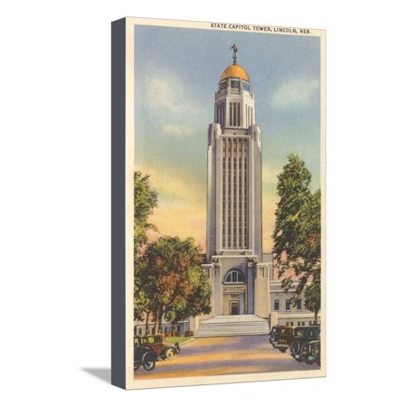 Lincoln State Capitol (State Capitol Tower, Lincoln, Nebraska Stretched Canvas Print Wall)