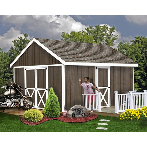Best Barns Easton 12 ft. W Solid Wood Storage Shed