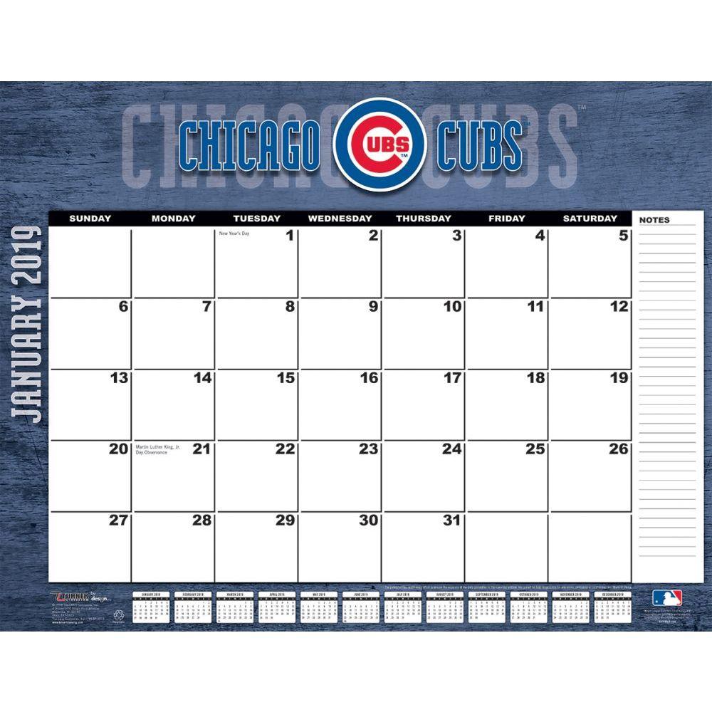 2019 22x17 Desk Calendar Chicago Cubs Walmart Com