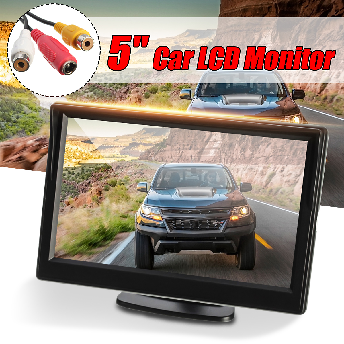 "5"" inch TFT-LCD Car Rear Biew Rearview Monitor with Windshield Mount Reverse Backup Camera"