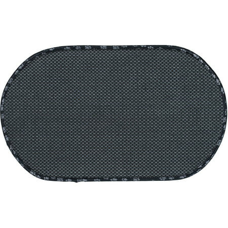 Envision Home Microfiber Anti Skid Pet Bowl Mat Black