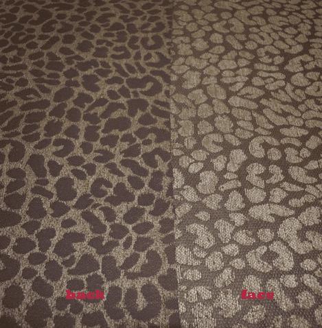 Apple Green Chenille Jacquard Leopard Spots Animal Print Upholstery