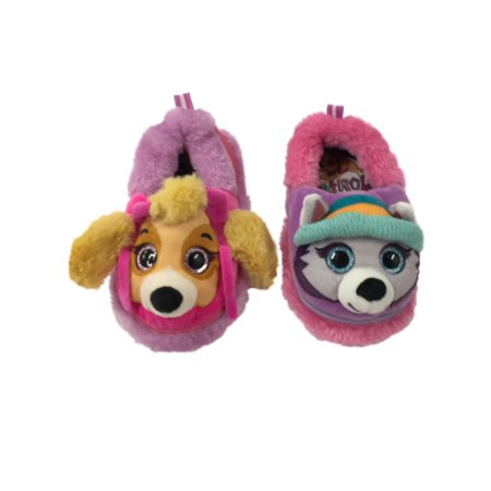 Toddler Girls Paw Patrol Puppy Dog Slippers Skye & Everest House Shoes