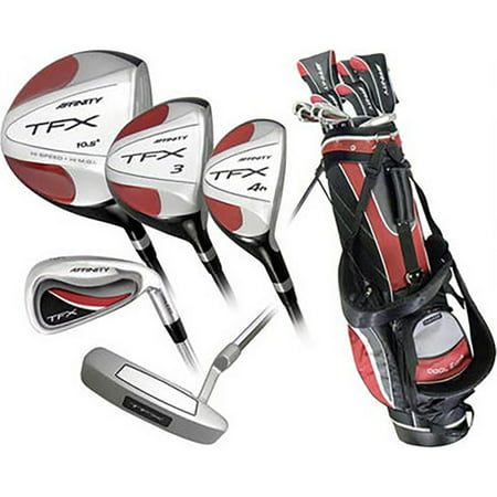 new affinity tfx premium 17 piece complete golf set w driver woods irons bag. Black Bedroom Furniture Sets. Home Design Ideas