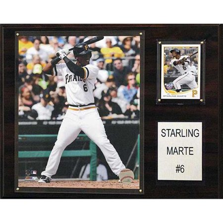 CandICollectables 1215SMARTE MLB 12 x 15 in. Starling Marte Pittsburgh Pirates Player Plaque - image 1 of 1