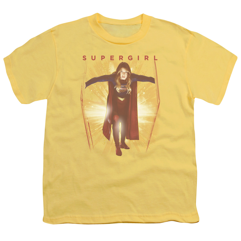 Supergirl Through The Door Big Boys Shirt