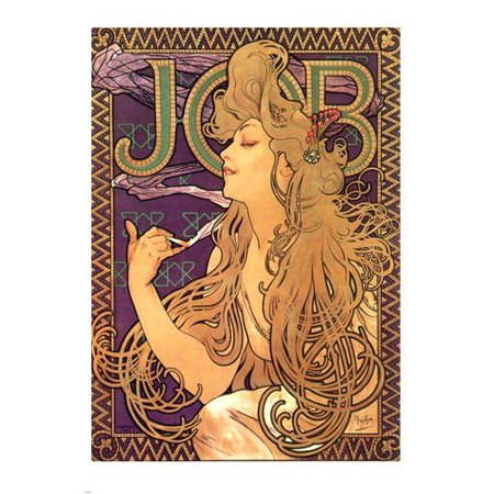 Vintage Job Poster Alphonse Mucha Print 24X36 (Mucha Vintage Poster)