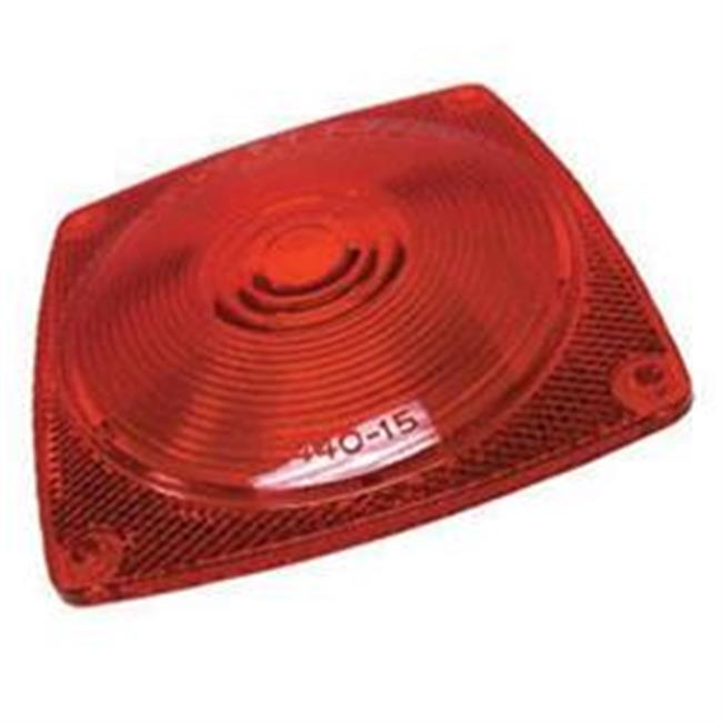 Peterson Mfg 44015 Turn Signal-Parking-Side Marker Light Lens, Red
