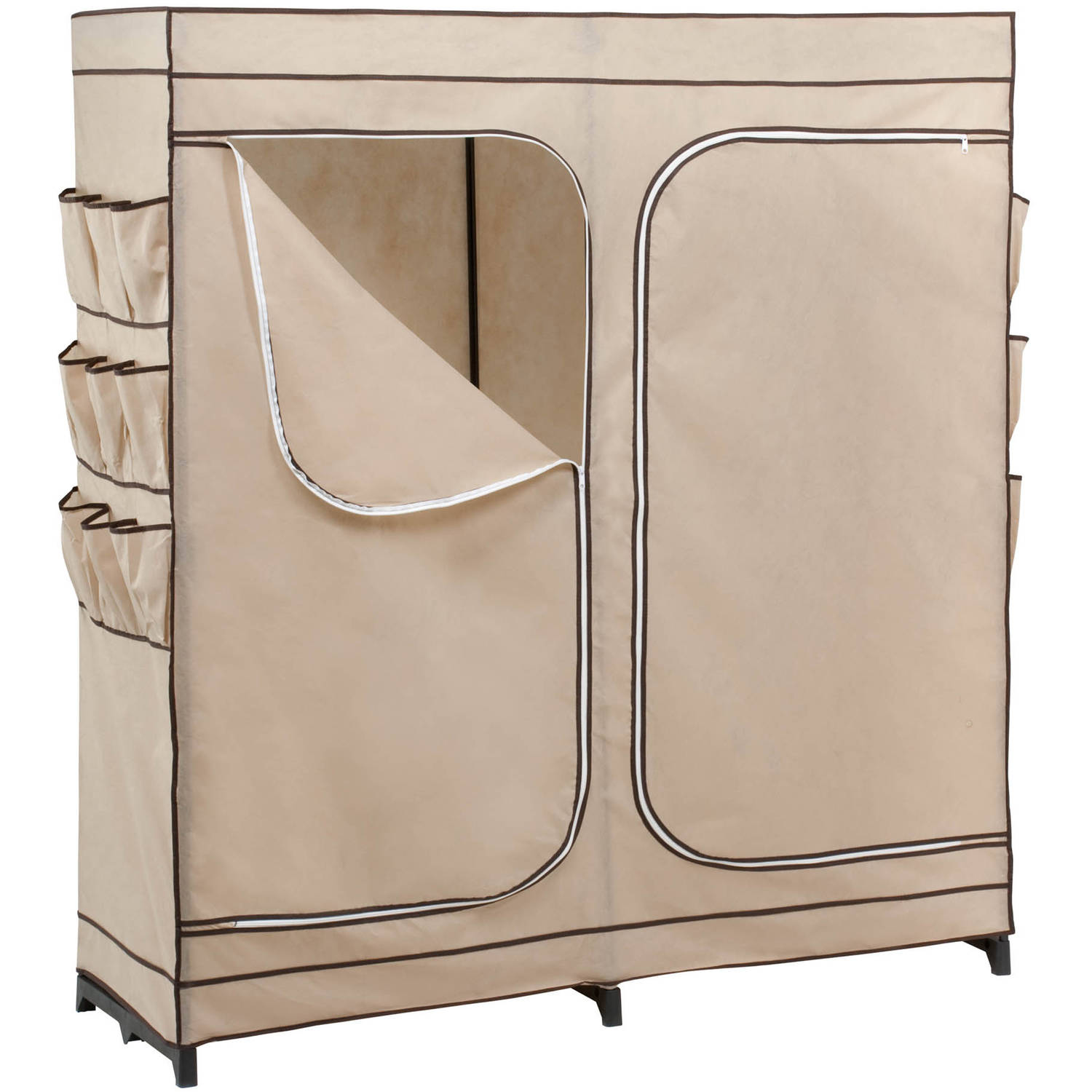 Honey Can Do 60 2 Door Closet Storage With Shoe Storage Khaki