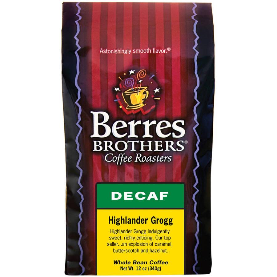 Berres Brothers Coffee Roasters Highlander Grogg Decaf Coffee, 12 oz