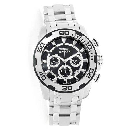 22318 Men's Pro Diver Chronograph Black Dial Stainless Steel Bracelet Quartz (Best Chronograph Under 500)