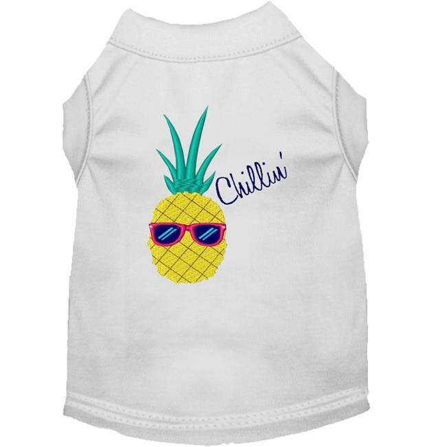 Pineapple Chillin Embroidered Dog Shirt White Xxxl (20) - image 1 de 1