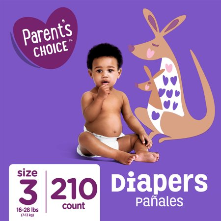 Parent's Choice Diapers, Size 3, 210 Diapers