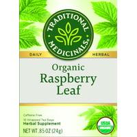 Traditional Medicinals, Organic Raspberry Leaf Herbal Tea, Tea Bags, 16 Ct