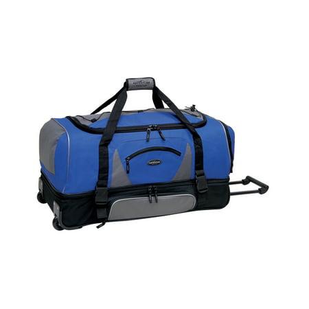 Travelers Club Luggage Adventure 36; 2-Section Drop Bottom Rolling Duffel