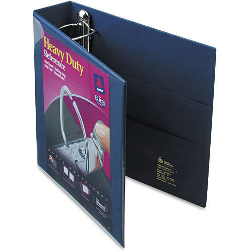 """Avery Heavy-Duty View Binder with 2"""" One Touch EZD Ring 79802, Navy Blue"""