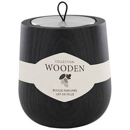 LAIT DE FIGUE (FIG TREE)  Hypsoe 6.7 oz Black Wooden Candle