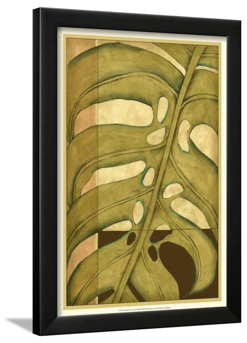 Tropical Leaves II Framed Print Wall Art By Jennifer Goldberger ...