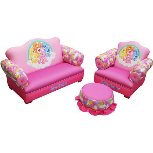 American Greetings Care Bears Rainbow Toddler 3-Piece Sofa, Chair and Ottoman Set