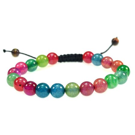 Mixed Colors Of Round Quartz Gemstone Bracelet Good For Healing And Energy  91016