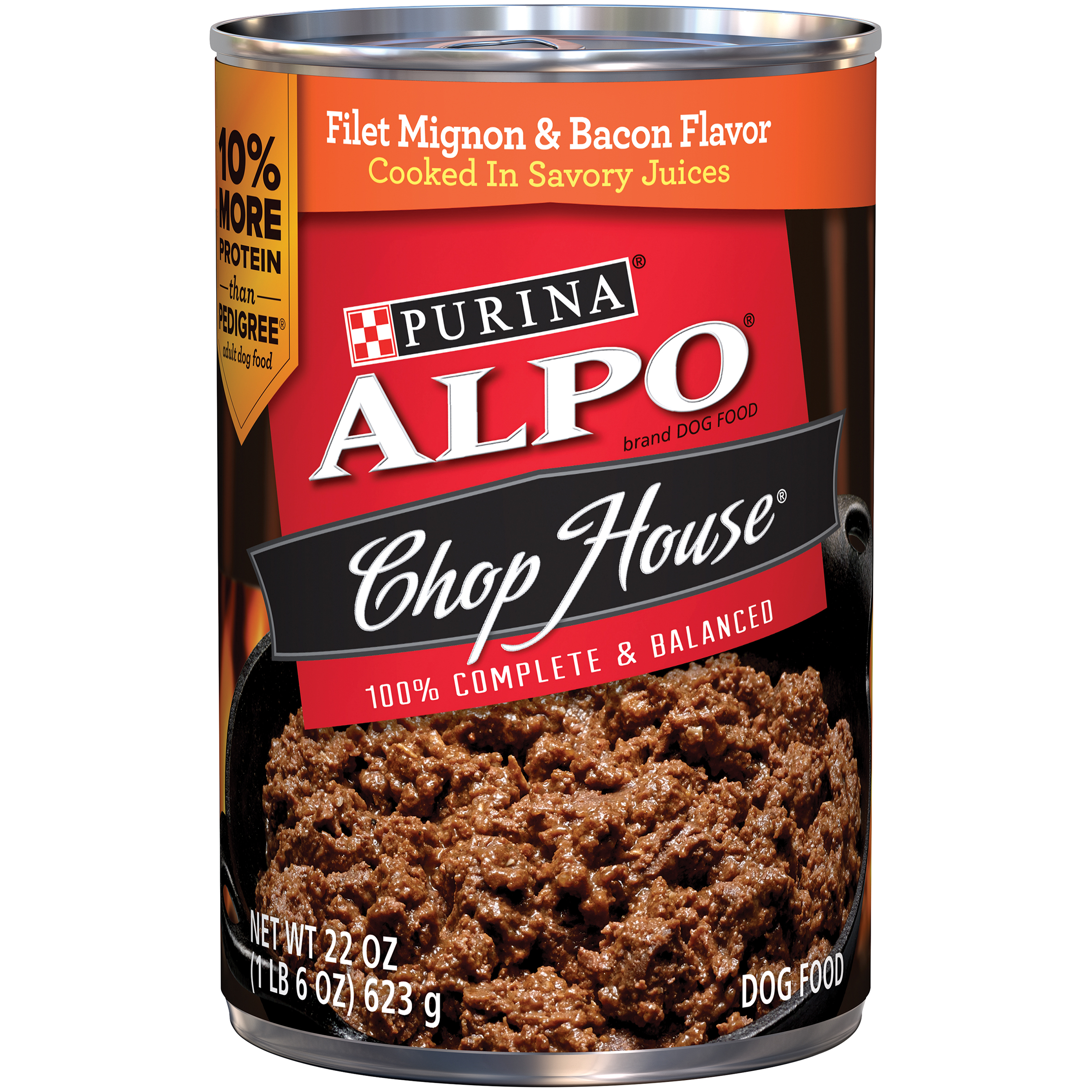 Purina ALPO Chop House Filet Mignon & Bacon Flavors Dog Food 22 oz. Can