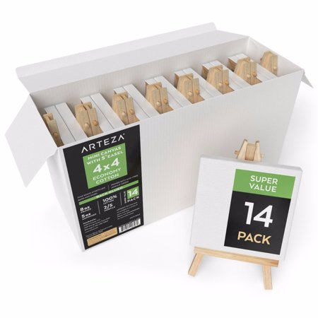 Arteza 4 X4  Mini Canvas   Easel  Set Of 14