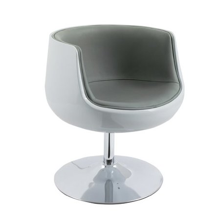 Modern Bonded Leather Barrel Chair (Difference Between Faux Leather And Bonded Leather)