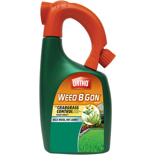 Ortho Weed B Gon MAX Plus Crabgrass Control Weed Killer for Lawns Ready-To-Spray, 32 oz
