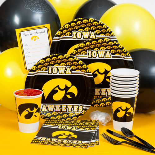 Iowa University Party Pack For 8