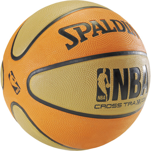 "Spalding NBA Cross Traxxion 27.5"" Basketball, Khaki/Orange"