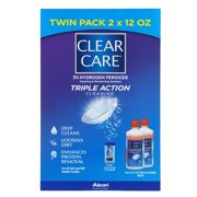 CLEAR CARE Contact Lens Cleaning and Disinfecting Solution, Twin Pack