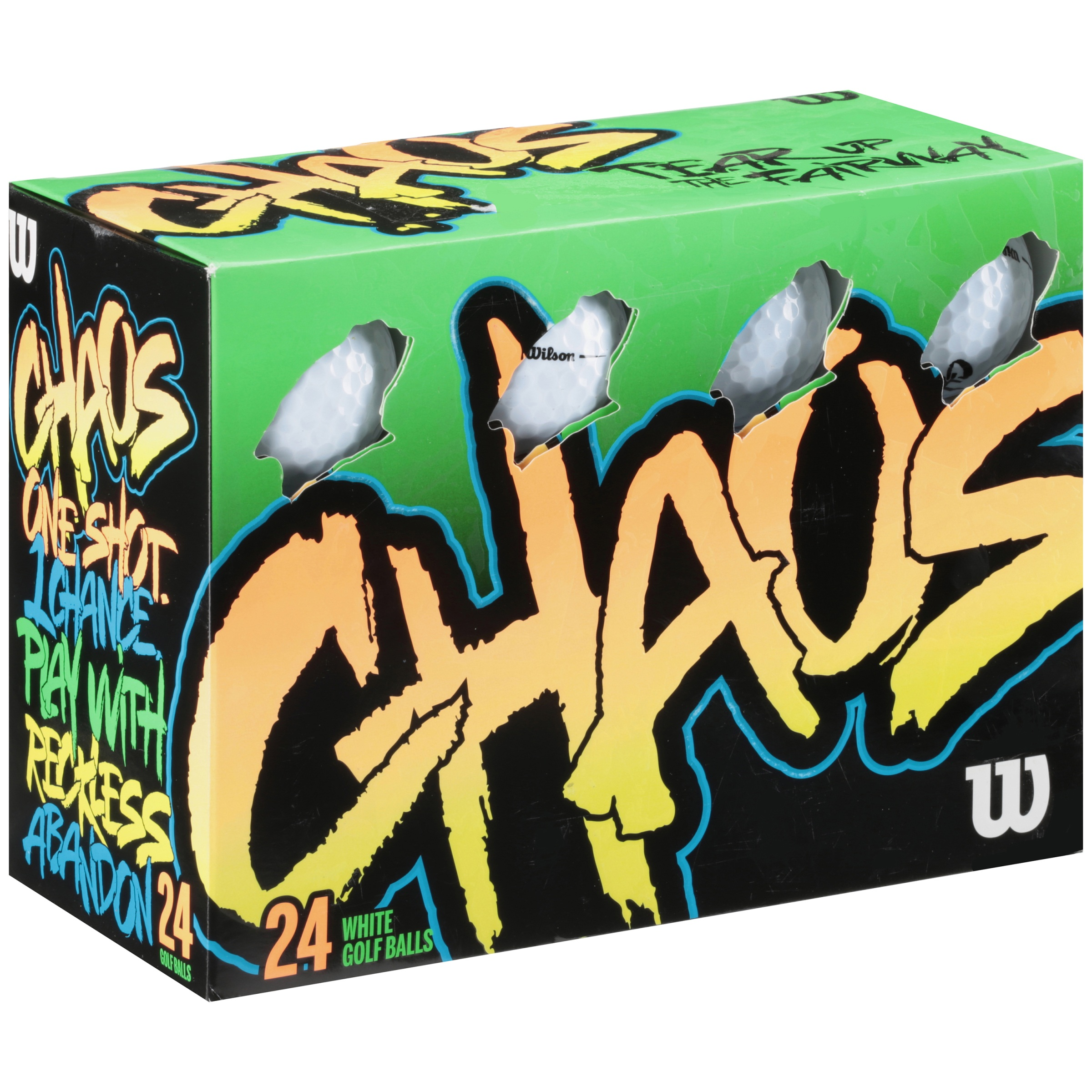 Wilson Chaos Golf Balls, 24 Ball Pack Multi-Color by Wilson Sporting Goods