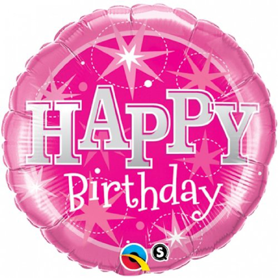 "Happy Birthday Pretty Princess Sparkle Round Supra 18"" Foil Balloon, Pink"