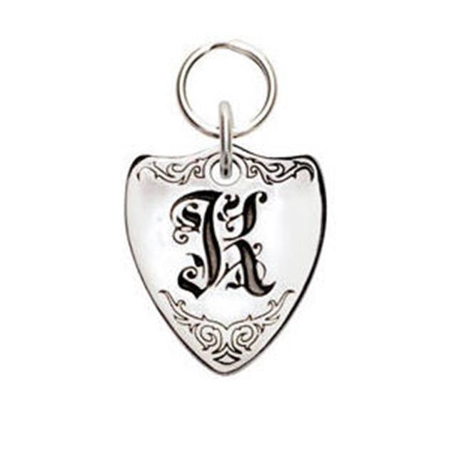 Rockinft Doggie 844587000233 Small Sterling Silver Crest Dog Tag - Letter K