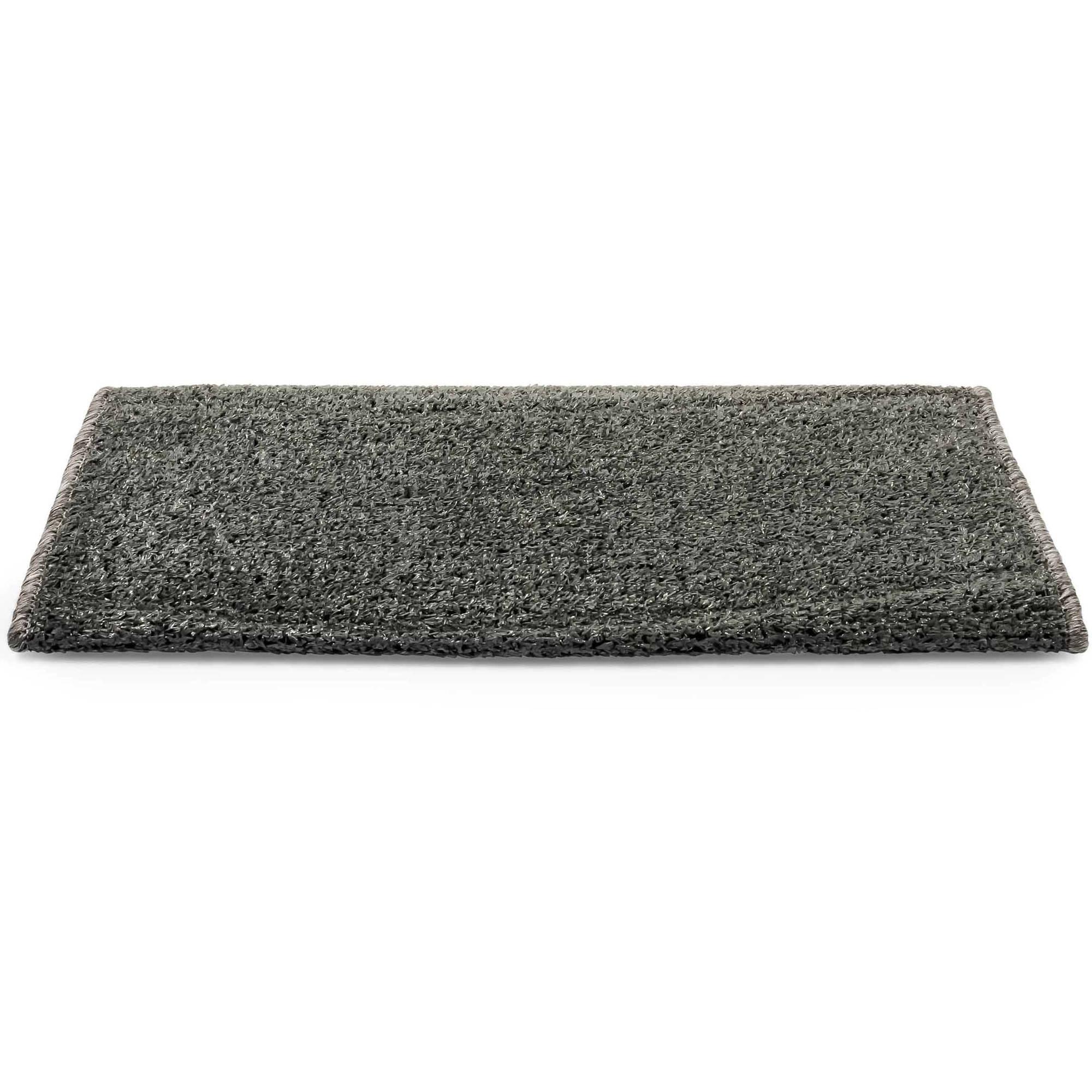 """Camco 42950 Premium Radius Wrap Around Step Rug, Turf Material (22"""" Wide), Gray"""