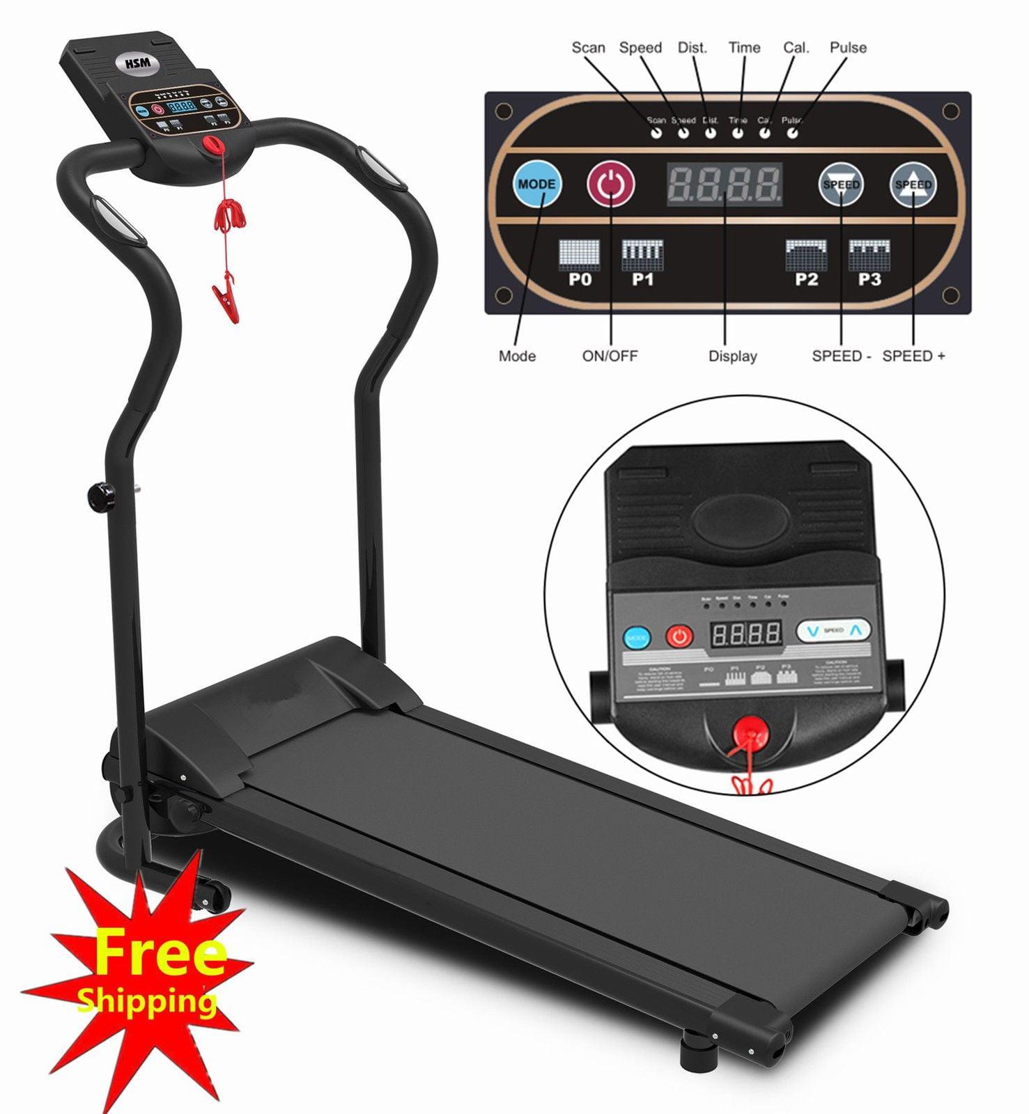 500w Electric Motorized Folding Treadmill Running Gym