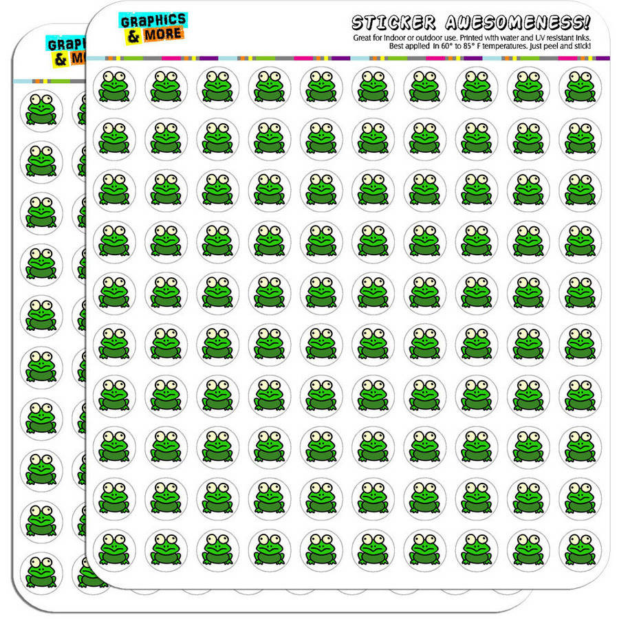 "Frog Toad 200 1/2"" (0.5"") Planner Calendar Scrapbooking Crafting Stickers"