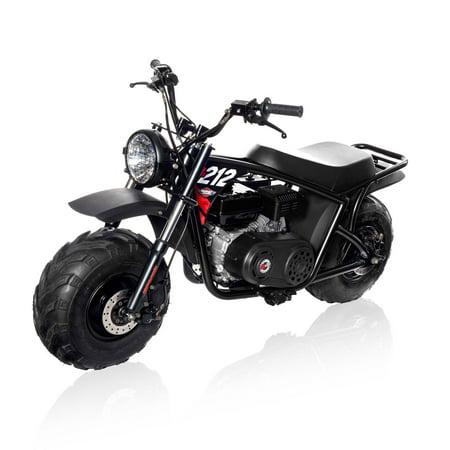 Mega Moto 212cc Gas Powered Mini Bike -Pro with Headlight - Gas Bike Motors