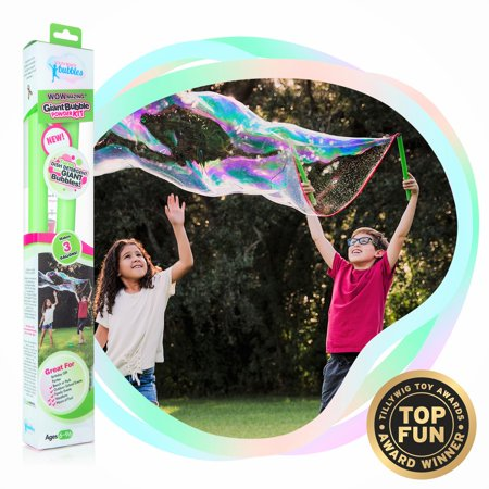 WOWMAZING Giant Bubble Powder Kit: Large Bubble Wand-3-pack of Big Bubble Powder (Makes 3 Gallons)