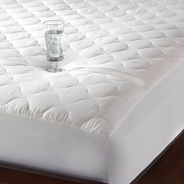 Newpoint Quiet Waterproof Cotton Mattress Pad, White   Walmart.