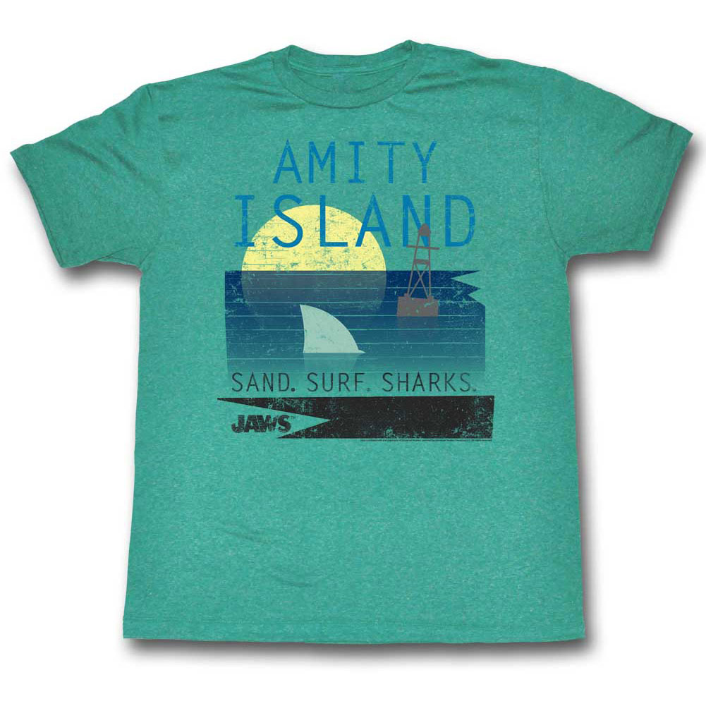 Jaws Men's  New Colors T-shirt Mahi Triblend