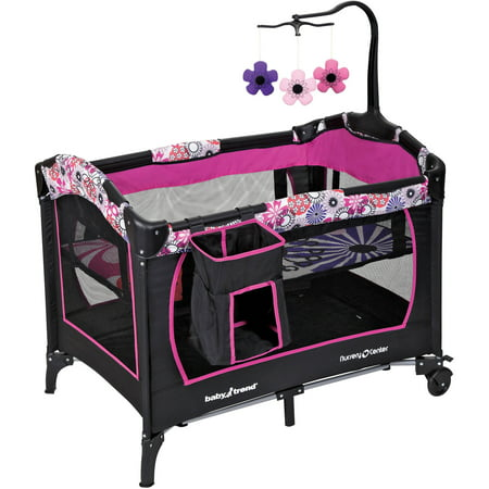 baby trend nursery center playard floral garden. Black Bedroom Furniture Sets. Home Design Ideas