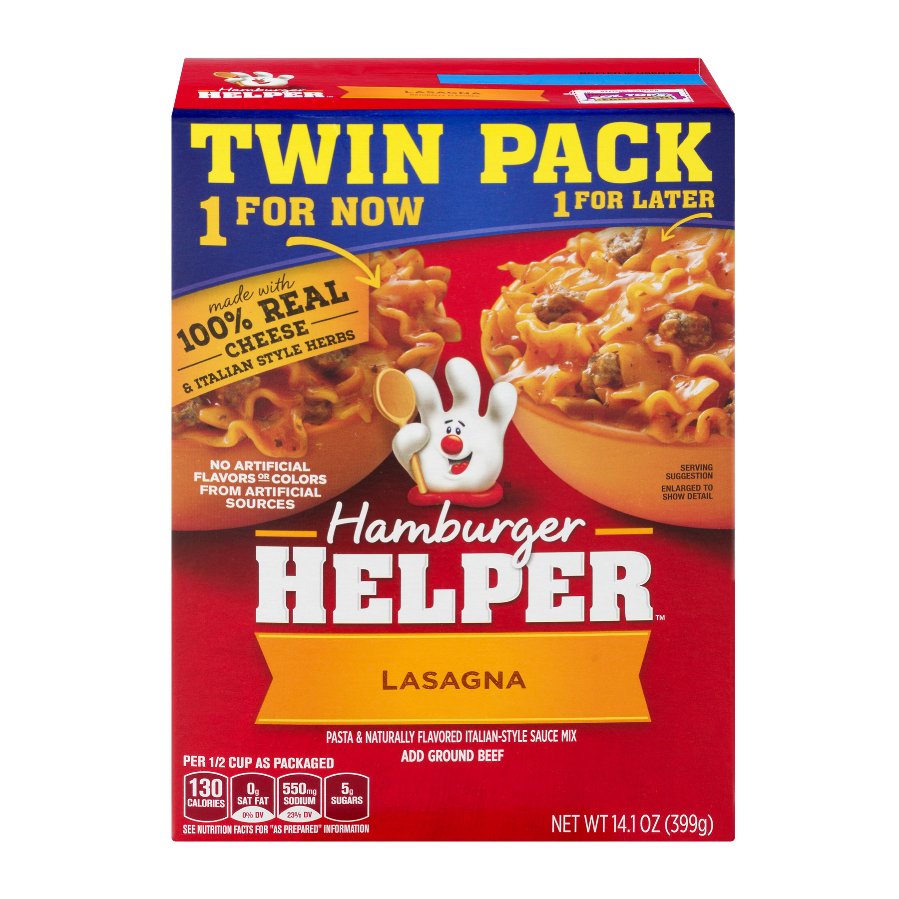 Betty Crocker Lasagna Hamburger Helper 14.1 oz. Box