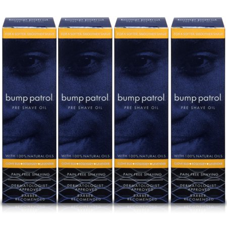 Bump Patrol Pre Shave Oil For Pain Free Shaving with 100% Natural Oils (1 oz) Easy Slider Pre Shave Oil