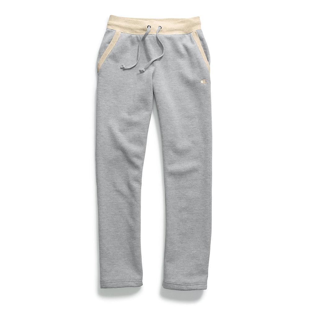 Champion Women/'s Fleece Open Bottom Pants M1064