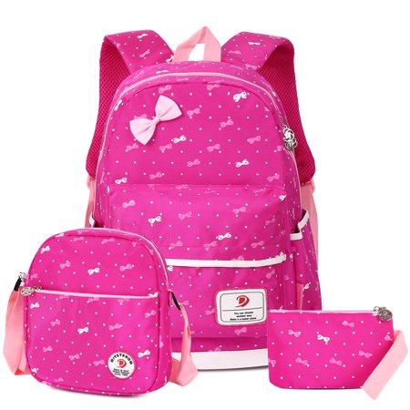 20082f805a Kids Backpack-Vbiger 3 in 1 Kids Backpack Girls Boys School Bag Waterproof  Nylon Shoulder
